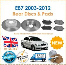 For E87 116i 118i 2003-2012 Two Rear Vented 300MM Brake Discs & Brake Pads Set