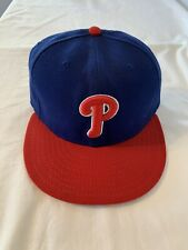 New Era 59Fifty Philadelphia Phillies Blue Red Cool Base Fitted Hat Sz 7 1/2
