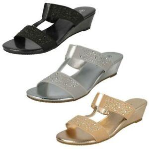 Ladies Savannah Heeled Mule 'Sandals'