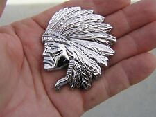 JEEP CHEROKEE INDIAN CHIEF CAR BADGE *New* Chrome Metal Emblem