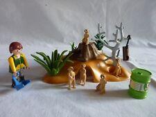 PLAYMOBIL animaux personnage accessoire zoo végétation soigneur et suricates