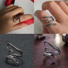 Adjustable Punk Titanium Steel Gothic Octopus Tentacle Finger Open Ring Vintage