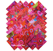 "Kaffe Fassett Collective Rich Reds Precut 5"" Fabric Quilting Squares SQ86"