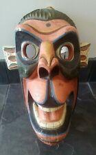 Vintage Authentic Hand made Ecuadorian tribal ceremonial monkey mask large
