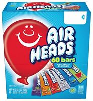 Airheads Bars Chewy Fruit Candy, Variety Pack, Party, Non Melting, 60 Count