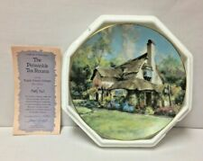 Periwinkle Tea Rooms Marty Bell Numbered Hamilton Collector Plate 24K Coa 1990
