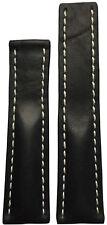 22x18 XL RIOS1931 for Panatime Black Vintage Watch Strap For Breitling Deploy