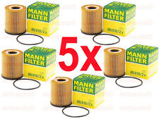 5-Pieces OEM Mann-Filter Oil Filters for Mini Cooper  2001 to 2008