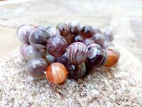 10 mm Genuine Botswana Agate Beads - Grade A + - 1 mm Hole