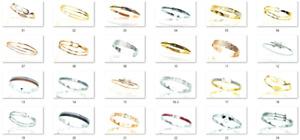 Lot 20 Bracelets en Acier Inoxydable 316L