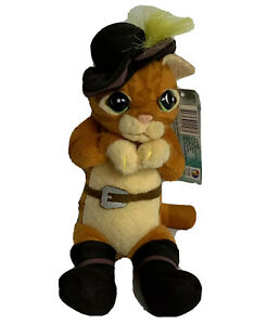 Shrek Forever After Puss In Boots Plush Toy Hasbro 2010 BNWT
