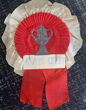 Original 1950s Manchester United Football Rosette 1957 FA Cup Final Pennant