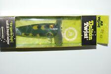 old dalton twist dt45 yf frog pattern prop propeller bait bass topwater