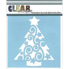 """Pochoir décoratif - clear Scraps - """"sapin de Noël"""" -  15x15cm"""