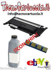 Kit di Ricarica Toner per Samsung CLP 360 CLT K 406 S Nero BK con CHIP