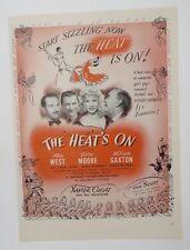 Original Print Ad 1943 Movie Ad THE HEAT'S ON Mae West Victor Moore