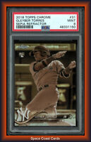 2018 Topps Chrome #31 Gleyber Torres Sepia Refractor PSA MINT 9 Rookie RC