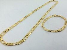 Collana Oro Giallo Bracciale Uomo Catena Gioielli Unisex Completo Oro