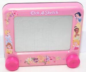 "Disney Princess Pink Etch-A-Sketch Ohio Art Co. 6.25""x5.5"" Cinderella Snow White"