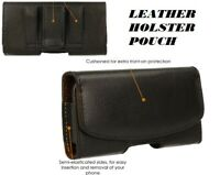 HOLSTER POUCH Leather Pouch Case with Belt Clip & Loop for Huawei phone Models