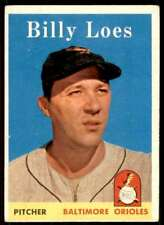 1958 Topps Billy Loes Baltimore Orioles #359