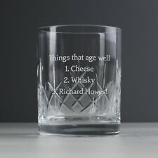 Personalised Engraved Crystal Whisky Glass & Presentation Box- Birthday Him Her