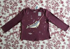 Old Navy Baby Girl Top Shirt Burgundy Sz.18-24M