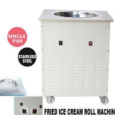 Fried Ice Cream Roll Machine Single Pan Commercial Fried Milk Yogurt 1050 W USA