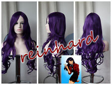 Neon Genesis Evangelion- Katsuragi Misato cosplay anime Wig-Dark Purple Curls