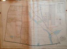 1898 STATEN ISLAND SUNNYSIDE E. ROBINNSON ORIGINAL ATLAS MAP  22X32
