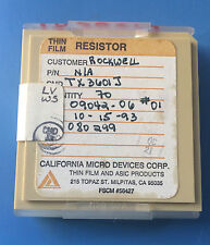 TX3601J CALIFORNIA MICRO DEVICES RESISTOR THIN FILM ASIC 70/units total