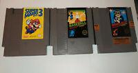 Nintendo NES 3x Games Lot Super Mario 3 - Hogan's Alley - Baseball *Used*
