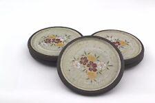 Vintage Japanes Ceramic Coasters Set of 5 Floral Made In Japan