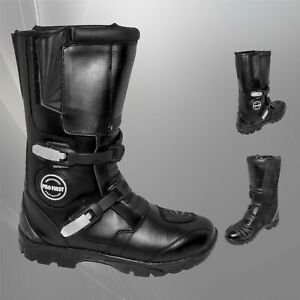 Motorbike Racing Boots Motorcycle Riding Leather Off Road Boots Waterproof Armor