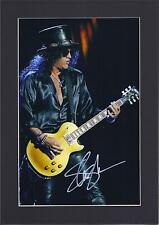 Slash, Guns N Roses Signed Autograph Photo Mounted Display To Fit A4 Frame PP
