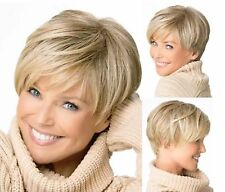 Blond Crop Pixie Cut Head Wig Short Blonde Costume Party Hair Full Wigs #123