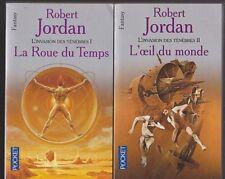 LA ROUE DU TEMPS tome 1 et 2 Robert Jordan livre ROMAN fantasy