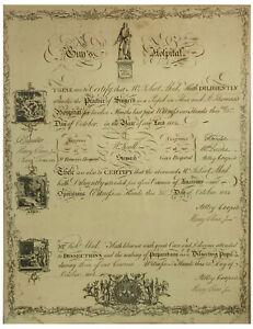 Guy's Hospital London Antique 1814 Medical Surgeons Qualification Certificate