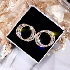 3 Circle 3 Colours Crystal Stud Earrings made with Swarovski Crystals      T1:7