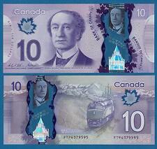 CANADA 10 Dollar P 107 2013 / 2015 New Signature Wilkins / Poloz UNC Polymer