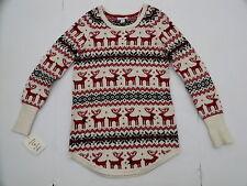 Wearing your heart sleeve women medium reindeer sweater fair isle new wool tunic