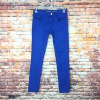 American Eagle Womens Size 6 Regular Super Stretch Blue Denim Jegging Jeans