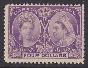 CANADA 1897 QV Jubilee $4 deep violet