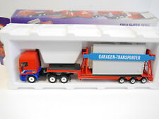 SZ DAF 95 Lkw mit Garage Transporter carrier truck trailer, Siku 3425 1:55 Ovp