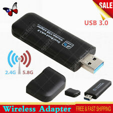 1200Mbps USB 3.0 Wireless WiFi Network Receiver Adapter Card 5Ghz For Desktop PC