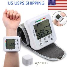 Lcd Digital Wrist Blood Pressure Monitor Bp Cuff Gauge Automatic Machine Tester