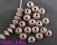 200 pcs Antiqued copper plt bicone spacer beads A725