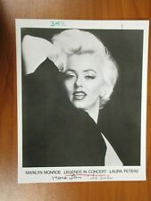 Vintage Glossy Press Photo Legends In Concert Marilyn Monroe by Laura Peters #2