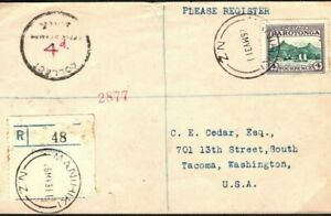 Cook Is RAROTONGA Cover *Manihiki* Registered *COLLECT 4d CHARGE* USA 1931 MS802