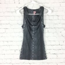 Sweet Pea By Stacy Frati Womens Gray Black Tank Top Snake Print Lined Stretch XS